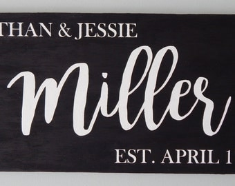 Personalized Wedding Date Wood Sign