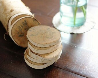 Coasters made of Birch wood