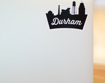 Durham, NC Skyline Sticker