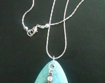 aqua pendant necklace