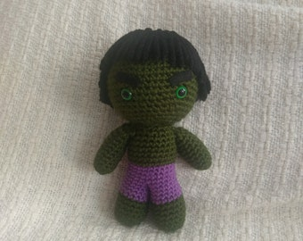 Hulk Crochet Amigurumi Plush Doll