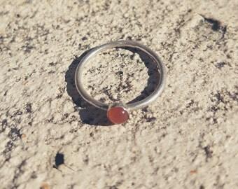 Carnelian silver ring