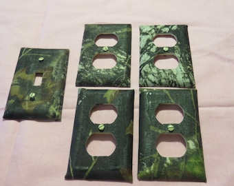Camo camouflaged outlet light covers
