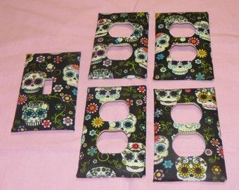 Black skull outlet light covers