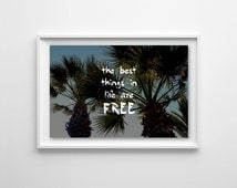 Life Quote, Photography - Wallpaper,Wall Art - Print Photo,Fine Art Print,Postcard,Poster,Image,4x6 - cool tumblr travel vacation palm trees