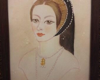 Framed Portrait of Anne Boleyn