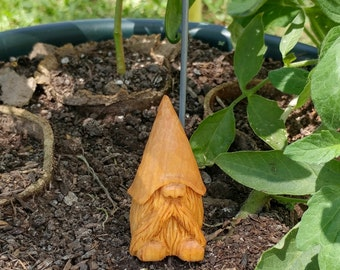 Hand carved basswood gnome #3
