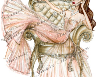 Vintage Chair (Fashion Illustration