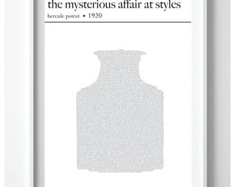 The Mysterious Affair at Styles- Hercule Poirot story by Agatha Christie Text Art