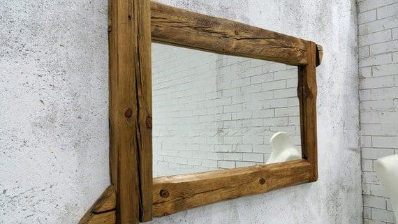Bathroom Mirror Reclaimed Wood Mirror Rustic Mirror Wall