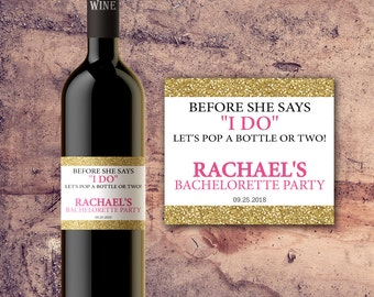 PERSONALIZED BACHELORETTE PARTY Favors Wine Bottle Labels