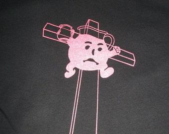 Drink the Kool-Aid T-shirt : Hand Screen Printed Unisex T-Shirt, men's, women's, edgy, black t-shirt, koolaid man, red ink, funny, atheist