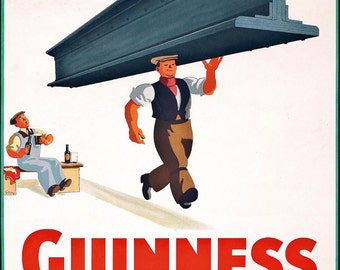 Guinness Metal Sign, Vintage, Retro, Shabby-Chic, Wall Plaque / Fridge Magnet