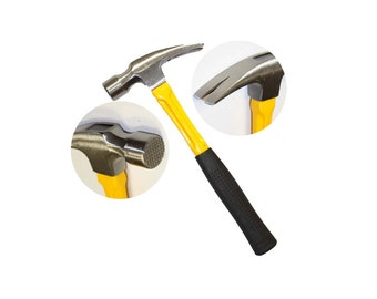 24 oz Framing Hammer with Milled Face and Shock Absorbing Fiberglass Handle