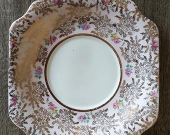Colclough pink English fine bone china pattern 6503 salad plate cake plate