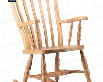 Farmhouse Slat-Back Rocking Chair: