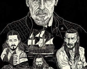 Black Sails Fan Art Print