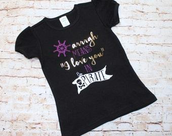 Pirate Arrrgh Toddler Shirt - ECU - Purple and Gold