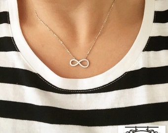 Sterling Silver Infinity Necklace / Infinity Silver Necklace / Infinity Symbol Jewellery / 925 Silver Infinity Necklace