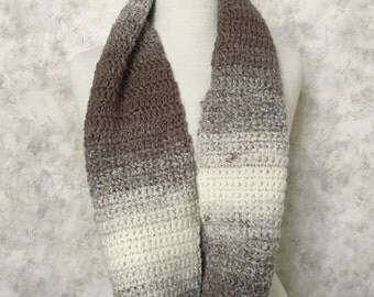 Cream Taupe Infinity Scarf