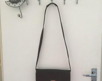 Vintage Bucci brown leather handbag