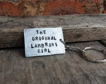 The Original LamBrini Girl keyring chain jewellery handmade reclaimed metals FREE POSTAGE ready GIFT bagged affordable personal gift for her