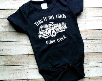 Fireman Baby Bodysuit - Firemans Baby Gift -  Gender Reveal - Baby Boy Outfit - Baby Girl Outfit - Newborn Baby Outfit - Baby Shower Gift
