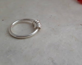 Sterling Silver 'Circles' Ring