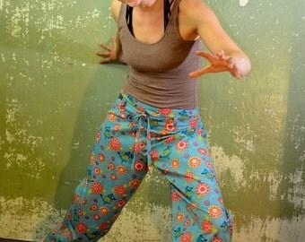 Yoga - meditation pants, comfortable cotton pants, Womens pants size 36/38