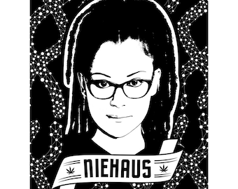 Orphan Black: Cosima Niehaus DNA Limited Edition Linoblock Ink Print