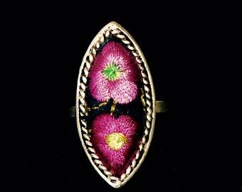 Bague ethnique Fleur