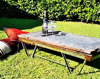 Recycled table,wooden table,table for outside,recycled window,handmade table,upcycled window,table for veranda,table for garden,table