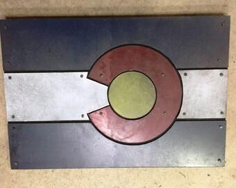 Metal Colorado Flag