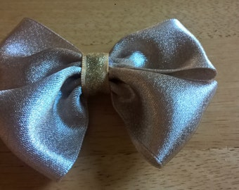 Taupe Bow Barrette