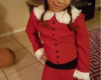Veruca Salt Dress from Willy Wonka and the Chocolate Factory (1971) Girls Sizes Custom Costume