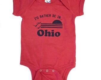 I'd Rather be in Ohio- Infant Vintage Bodysuit