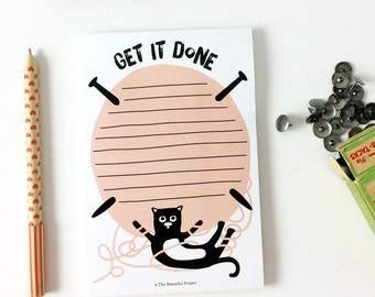 Note Pad - Cute Cat Kitten Notepad - To Do List