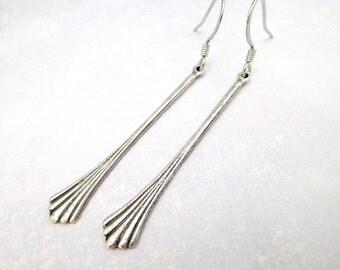 Art Deco Earrings, Antiqued Silver Plated Brass Earrings, Long Chandelier, Bridesmaid Gift, Bridal Jewelry,  Wedding Jewelry Hawaiibeads