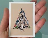 Tiny Print / Bird Tree