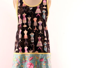 Craft Apron in Seamstress print