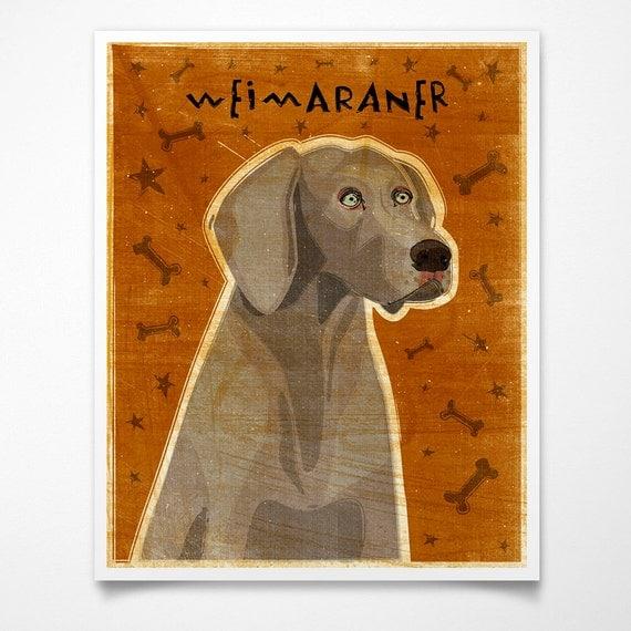 Gray Weimaraner Print 8 x 10- Weimaraner Art- Dog Print- Weimaraner Gifts- Gifts for Couples- Gifts for Pet Lovers- Gifts for Boss