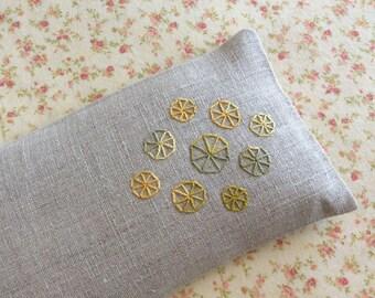 Eyelet Wheels Embroidered Lavender Eye Pillow