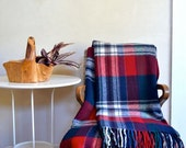 "Vintage Pendleton ""Motor Robe"" Fringed Plaid Throw Classic"