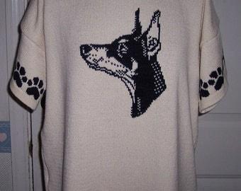 Custom Knit Doberman Pinscher Sweater ****Create your own sweater see below*****