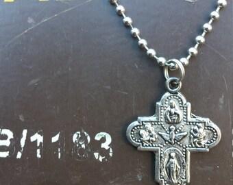 Metal Cross Necklace