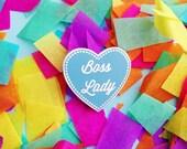 Boss Lady Enamel Lapel Pin Badge - Feminist Badge - Enamel Pin