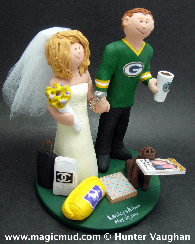 Georgia Bulldogs Football Wedding Cake Topper Anniversary Gift NFL CakeTopper NCAA