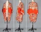 1920s kimono / silk robe / flapper / FOLIES BERGERE vintage kimono