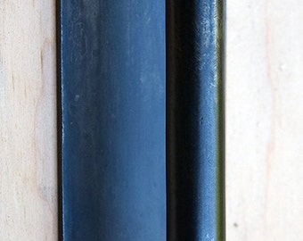 Door Pull / Door Handle, Blackened Mild Steel, Minimal, Modern, Cabinet Pull, Door Knob