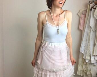 Pink Layer Cake Marie Antoinette Ruffles and Sparkle Short Skirt